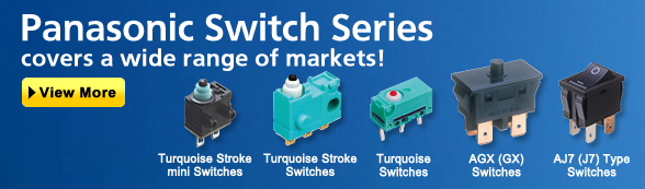 automation controls top page industrial devices panasonicpanasonic switch series covers a wide range of markets! to top page