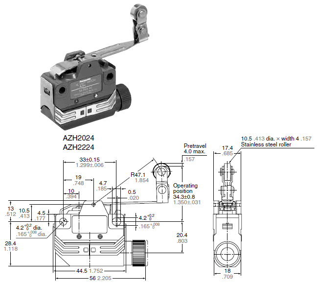 hl  azh  micro limit switch  discontinued products