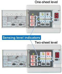 Yedi LED algılama seviyesini gösterir