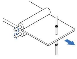 Measuring iron sheet thickness