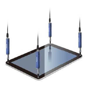 Tablet surface flatness measurement