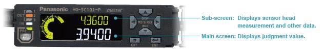 2 satırlı dijital ekran, aynı anda sensör kafası ölçümünü ve değerlendirme değerini gösterir.