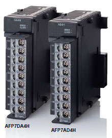 Analog input and output units