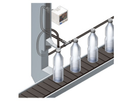 Air-leak test for PET bottles