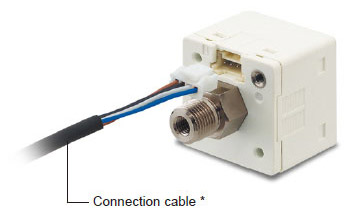 Connector attached cable (2m 6.562 ft), as an accessory, can be connected easily with one-touch connection.