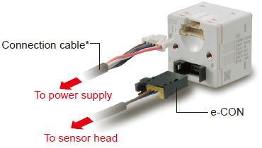 Power supply cable can be connected with one-touch connection