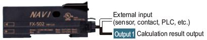Bir amplifikatör ve harici girişin hesaplanması