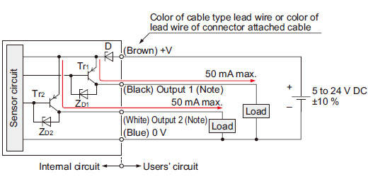 amplifier built in u shaped micro photoelectric sensor compact pnp output type i o circuit diagram
