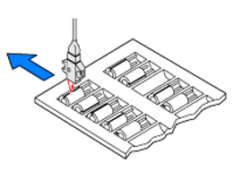 Sensing capacitors in a tray