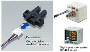 Can be connected using commercially available connectors