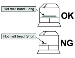 Hot melt length evaluation