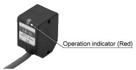 Sensor head with operation indicator Long sensing range type