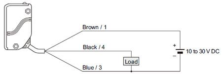 adjustable range reflective photoelectric sensor eq 30 i o circuit pnp output type eq 34 pn wiring diagram