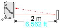 Long sensing range 2 m 6.562 ft
