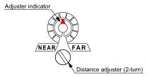 Mechanical 2-turn adjuster with indicator
