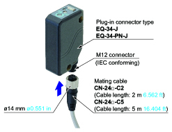 Plug-in connector type is available