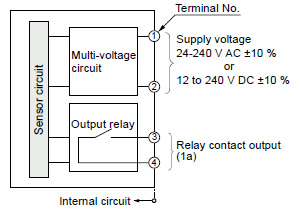 adjustable range reflective photoelectric sensor eq 500 i o i o circuit diagram