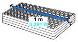 Long sensing range: 1 m 3.281 ft [EX-19□]