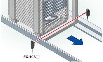 Long-range sensing at 1 m 3.281 ft with a narrow-beam [EX-19S□]