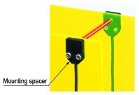 Mounting spacer for front sensing type is available