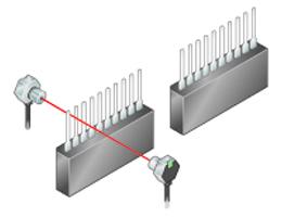 Checking IC pins (using slit masks)