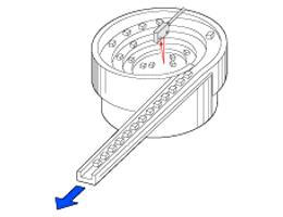 Sensing parts in feeder