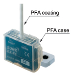 PFA enclosure gives excellent chemical resistance