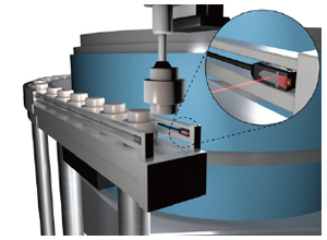 Detection of parts in parts feeder