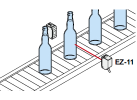 Detecting presence of liquid in colored bottle