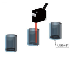 Detecting a gasket in a cap
