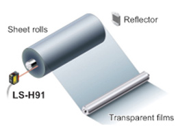 Detecting the remaining amount of sheet rolls