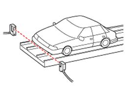 Detecting car position at parking garage