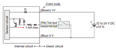 robust photoelectric sensor rx i o circuit and wiring diagrams i o circuit diagrams emitter of thru beam type sensor