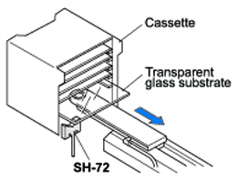 Detecting transparent glass substrates in cassette