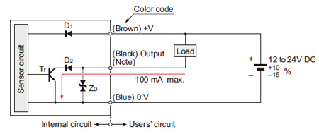 pic01 rectangular shaped inductive proximity sensor gx f h i o circuit npn proximity sensor wiring diagram at n-0.co
