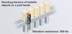 Sensing presence of metallic objects on a part feeder