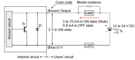 Cylindrical Inductive    Proximity       Sensor    GXUGXFUGXN IO Circuit and    Wiring    diagrams