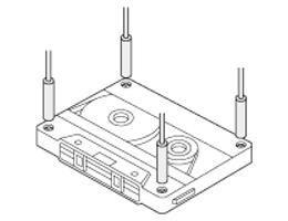 Sensing screws on cassette