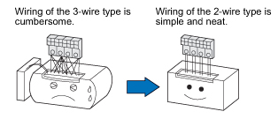Reduced wiring operation