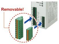 Removable terminal blocks reduce maintenance time [SF-C11/SF-C14EX]