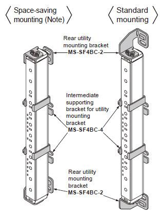 Fayda montaj braketi için arka yardımcı montaj braketi ve ara destek braketi