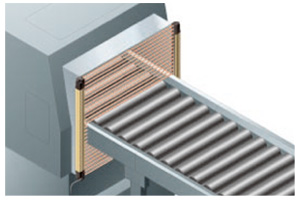 Any valid beam channels can be selected The SF4B series incorporates a fixed blanking function.