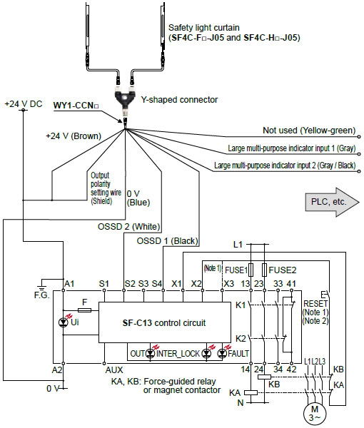 1) the above diagram is when using manual reset  if automatic reset is  used, disconnect the lead from x2 and connect it to x3  in this case, a  reset (reset)