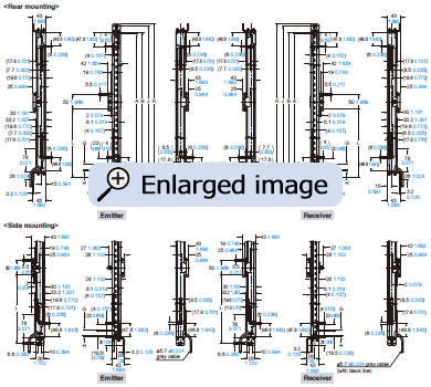 Compact Robust Safety Light Curtain Type 4 Ple Sil3 Sf4d Shear Force Diagram How To Draw A Sfd Mounting Drawing For The Curtains Using Beam Adjustment Bracket Ms