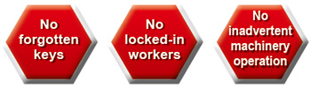 Solve issues related to machine safety and other safety measures with a safety door switch with key!