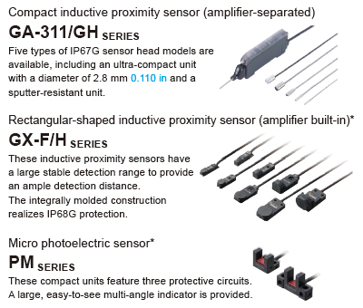 Transmission of ON/OFF data of proximity sensors and other sensors to the network