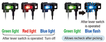 Lamp colors selectable