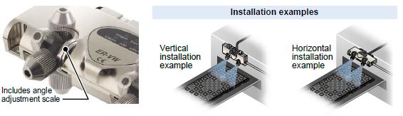 Nozzle angle adjustment mechanism