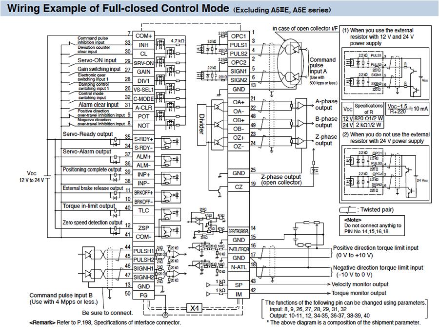 minas a5 family wiring connection automation controls rh www3 panasonic biz