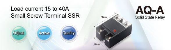 Load current 15 to 40A. Small Screw Terminal SSR - To products Page